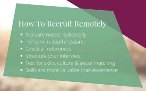 How to recruit remotely