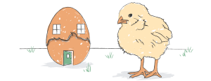 chick and egg graphic